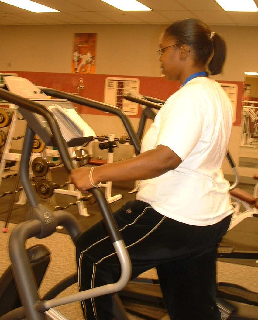 Clipped Book on Elliptical Trainer - Sarah